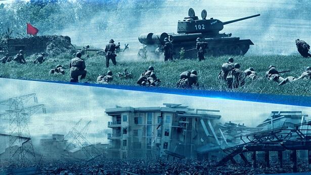 het verschijnen van oorlog, hongersnood en aardbevingen