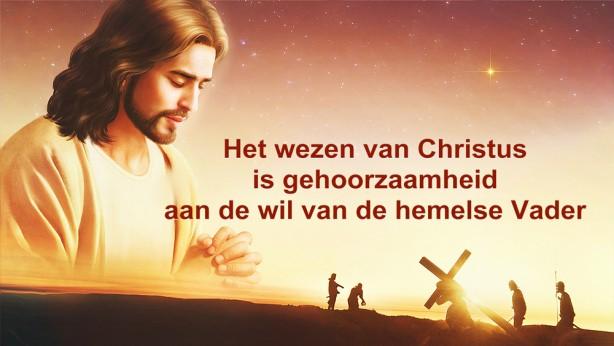 Het wezen van Christus is gehoorzaamheid aan de wil van de hemelse Vader